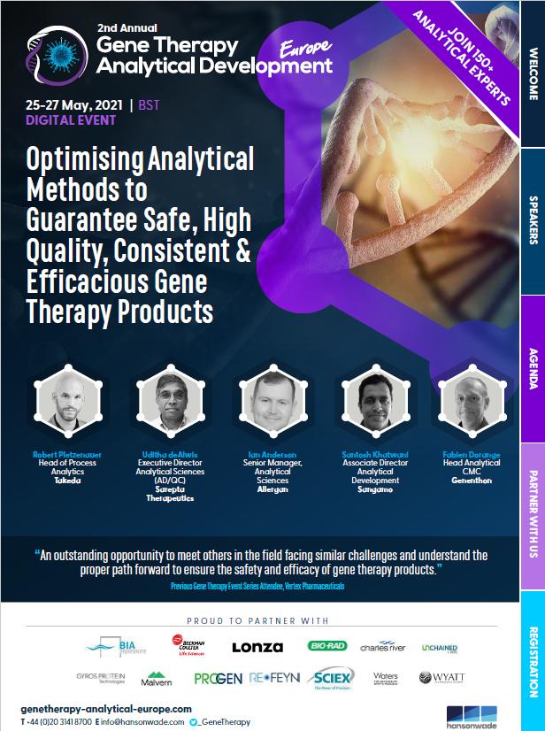 Gene Therapy Analytical Development Europe Drug Developer Event Guide